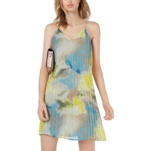 Bar III Sky Dream Watercolor Dress XL NWT